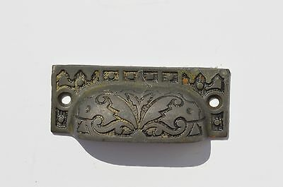 Antique Ornate Victorian East Lake Style Cast Iron Bin Cupboard Drawer Pull