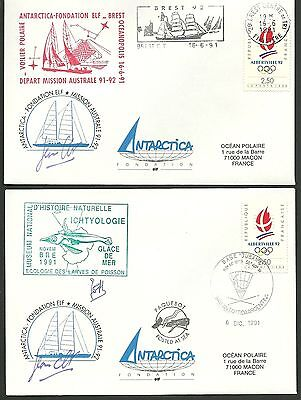 Fdc 1991-1992 -  Expedition  Mission  Australe