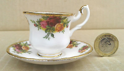 Royal Albert - Old Country Roses - Miniature Tea Cup & Saucer.