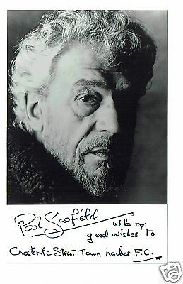 Paul Scofield  British Actor  Hand Signed Photograph 5 X 3