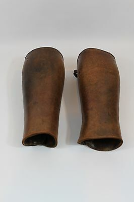 Vintage Antique Old West Leather Half Chaps Marked A. Levy Wellington