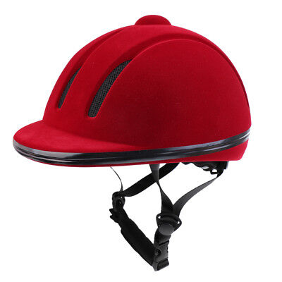 Ventilated Velvet Safety Horse Riding Helmet Equestrian Protective Gear - L