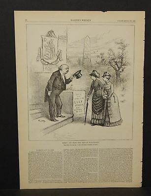 Harper's Weekly Single  Liberty & Peace Still Exist in Massachusetts 1883 A8#40