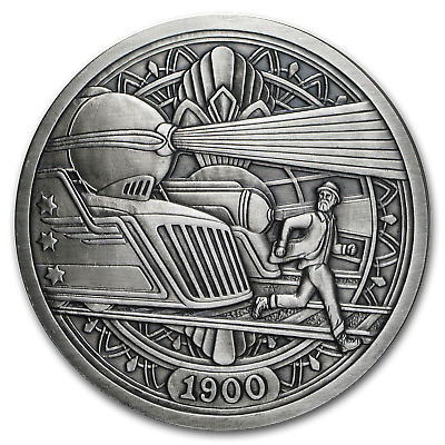 5 oz Silver Antique Hobo Nickel (Trains) - SKU#153484