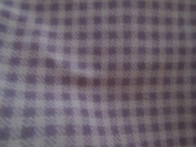 Martex Expectations Lavender and White Mini Checked Gathered Cribskirt