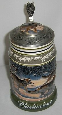 Run for the Moment ceramic stein from the Wolf Pack series from Budweiser