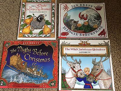 Lot of 4 Jan Brett Softcover Picture Books Great Condition