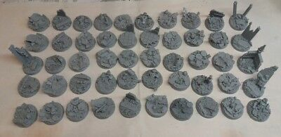 50 x 32mm Round  Scenic Resin Bases / Warhammer
