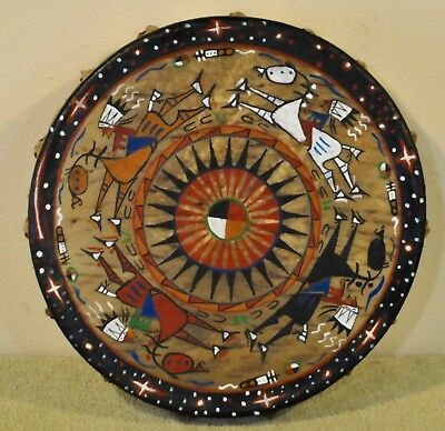 Night Riders/Native American Drum,Painted By Artist Sonja Holy Eagle