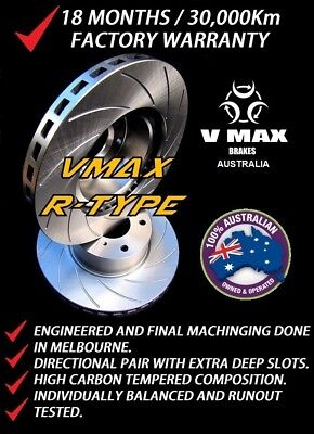 SLOTTED VMAXR fits FORD Territory 2WD AWD 2004 Onwards REAR Disc Brake Rotors