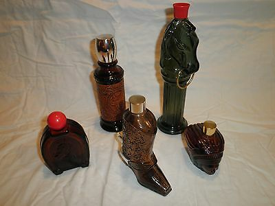 Vintage Lot of 5 Avon Cologne/After Shave Bottles