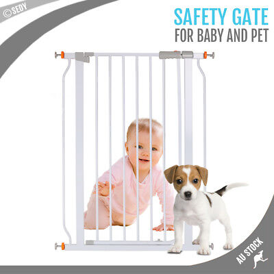 Adjustable Baby Safety Gate Children Dog Security Door Pet Stair Tall Barrier