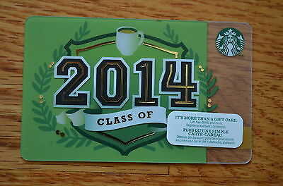"""Canada Series Starbucks """"CLASS OF 2014"""" Gift Card - New No Value"""
