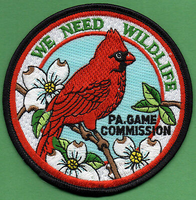 Pa Pennsylvania Game Commission We Need Wildlife Male Cardinal Red Bird patch