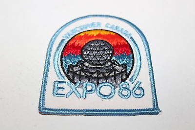 Vintage fabric patch UNUSED Vancouver Canada Expo 1986