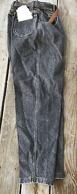 Vtg lee riders usa 80's relaxed tapered hip thigh fit denim jeans size 11 28x32
