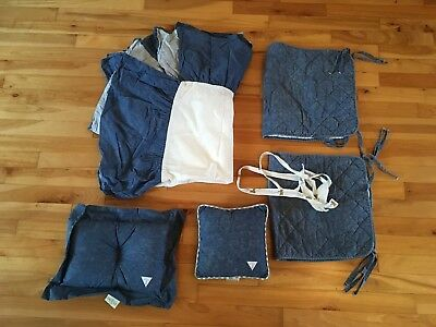 Baby GUESS at Home Faux Denim Nursery Set by Noel Joanna - Crib Skirt, Pillows +