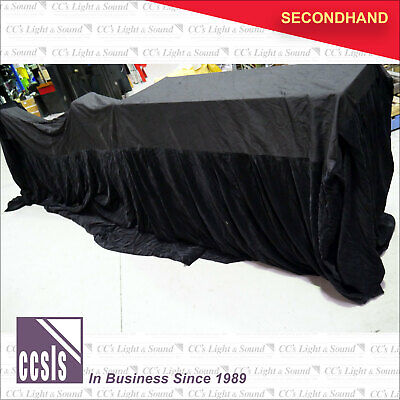 9m x 3.4m x 1.2m Black Velvetine Conference Table Cover