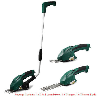 2 in 1 Rechargeable Grass Cutting Trimmer Lawn Garden Tools Mower Outdoor Yard