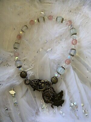 Code 512 Opalite Cherry Quartz Crystal Bracelet Infused Angel Watching Over You