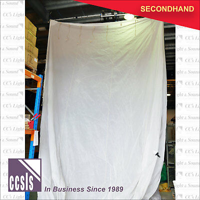 25m x 15m White Drape Parachute Material with Eyelets