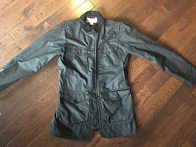 NWT Filson Explorer Water Resistant Cover Jacket Black Small S Waxed Cotton USA