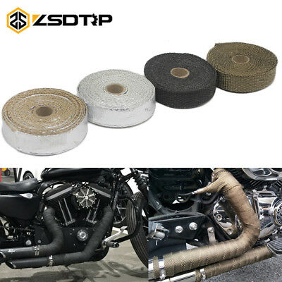 1.5 *25 mm Resistant Heat Header Insulation Tape Exhaust Pipe Motorcycle 5M