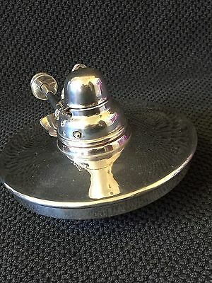 Antique. Victorian   Silver Plated   Oil Lamp Perfect