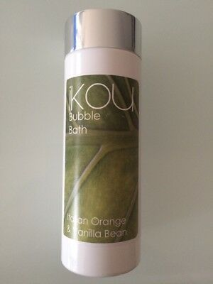 IKOU Bubble Bath Italian Orange & Vanilla Bean 240ml essential oils New