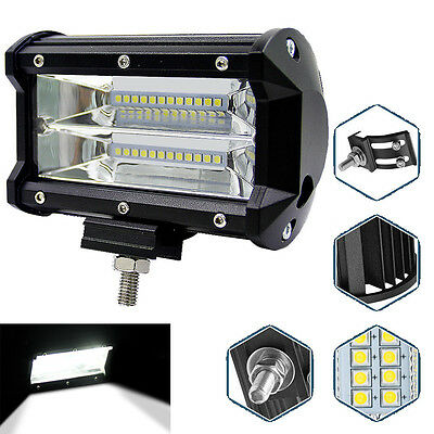 Top5''Inch 72W LED Work Light Bar Flood Driving Lamp For Jeep Truck Boat Offroad