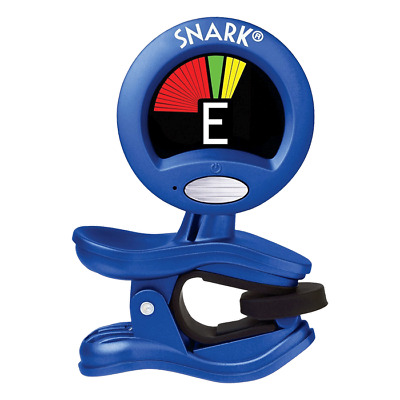 SNARK - Guitar and Bass Clip-On Chromatic Guitar Tuner Blue.