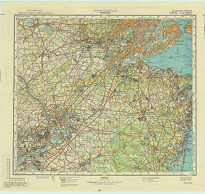 RUSSIAN SOVIET MILITARY Topographic Maps TRENTON USA - Military topographic maps