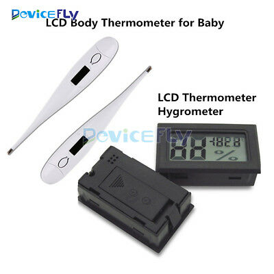 Mini Digital LCD Indoor Temperature Humidity Meter Thermometer Hygrometer Body