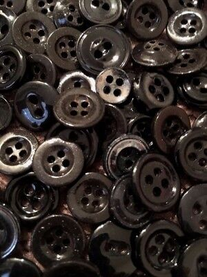 """⭐️  Antique~Vintage China Buttons~Lot Of 100+ Assorted """"blacks""""     ⭐️"""