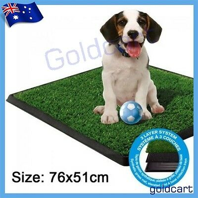 76X51CM Large Indoor Dog Pet Potty Training Portable Toilet 3 Layer Loo Pad Tray