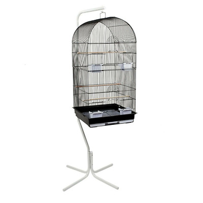 Heritage Large Double Bird Cage & Tall Stand Parakeet Budgie Cockateil Cages Pet
