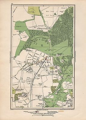 1923 London Street Map - Chingford,woodford Wells,sewardstonebury,epping Forest