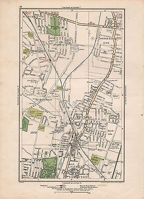 1923 London Street Map - Bush Hill Park, Lower Edmonton,ponders End,