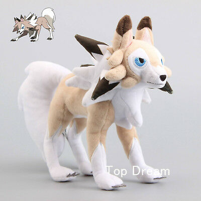Pokemon Lycanroc Midday Form Plush Doll Stuffed Animal Toy Sun Moon Figure Gift