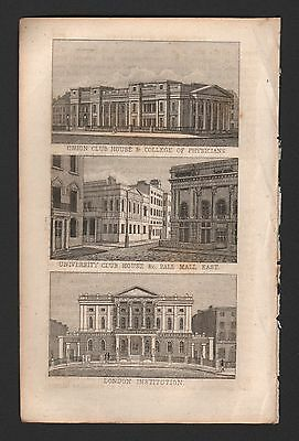 1827 London - Union Club, College Of Physicians, University Club House, London I