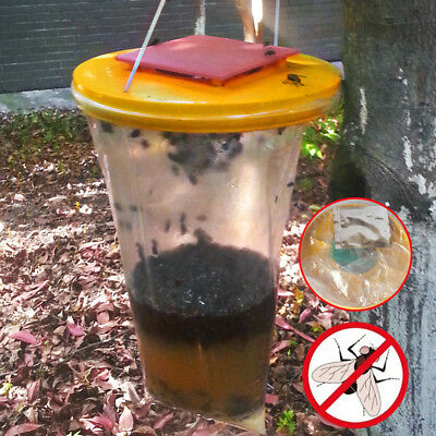 Red Drosophila Fly Trap Top Catcher Fly Mosquito Wasp Insect Bug Hanging Killer