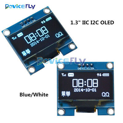 "1.3"" IIC I2C Serial 128X64 OLED LCD Display Screen Module For Arduino Blue/White"