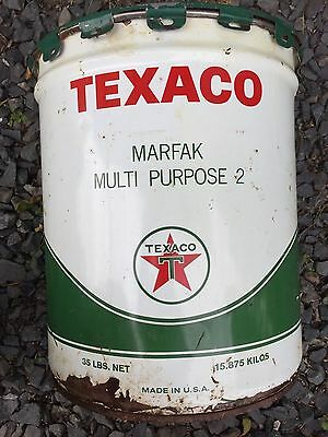 Vintage Texaco Inc Can Marfax Multi Purpose 2 Large 35 Lb Size Empty New York Us