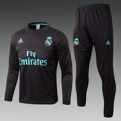17-18  Real Madrid Training clothes League Football Jersey Set black