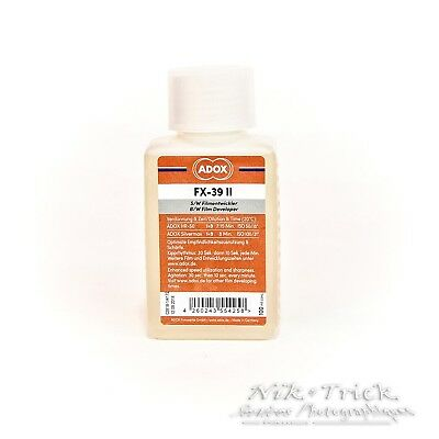 Adox FX-39 II 100ml Concentrate ~ Ideal Developer for Detail ~ Latest Formula!