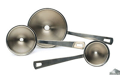 AZ SELLER Mini Funnel Set Of 3 Herb Spice Bottle Filler Kitchen Stainless Steel