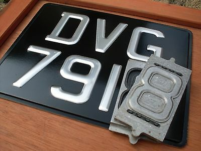 """CLASSIC Pressed Motorcycle number plate ROAD LEGAL [ 9""""x 7""""] **HEAVY DUTY**"""
