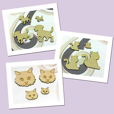 Dogs & Cats Wood MDF Craft Shape/Blanks - 2, 3, 4, 5, 8, 10, 15 & 20cm