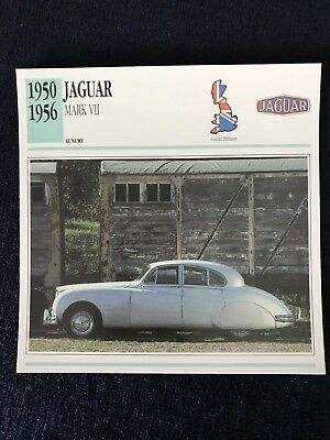 1950-1956 Jaguar Mark VII Car Photo & Spec Card Atlas Classic Cars Card
