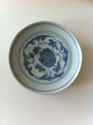 Chinese blue and white Ming dynasty medallion with mark